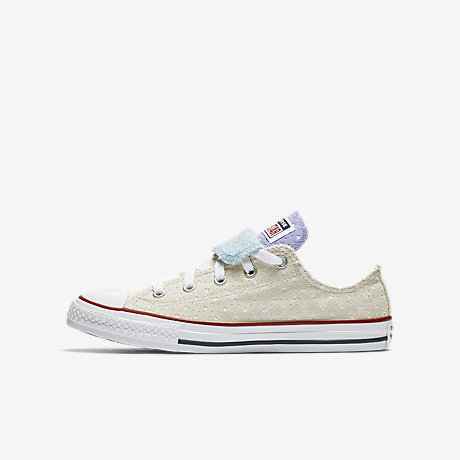Ordering Kid's Converse Double Tongue Grey Shoes
