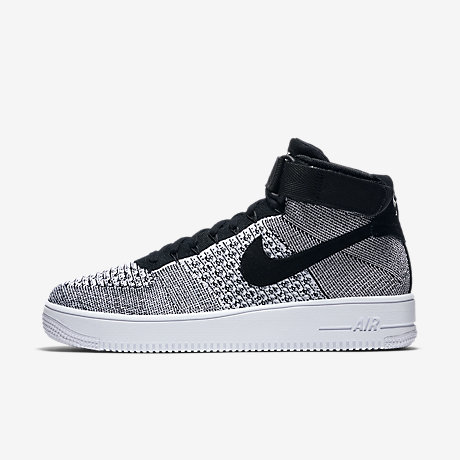 mens nike air force 1 black white