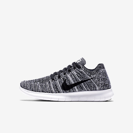 ... nike free rn flyknit (3.5y 7y) big kids running shoe boy ...