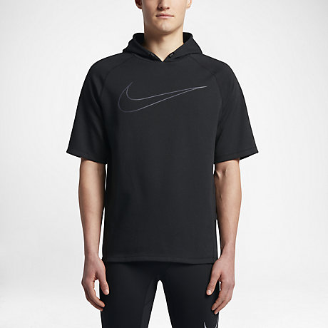 Nike (City) Men's Short Sleeve Running Hoodie. Nike.com