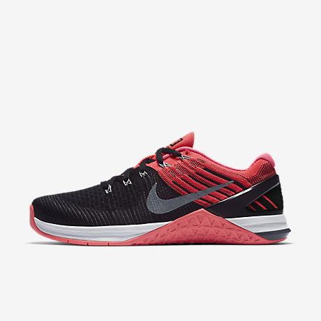 Nike Metcon DSX Flyknit Black Hyper Punch White Cool Grey 849809009