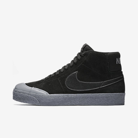 nike blazer mid black leather