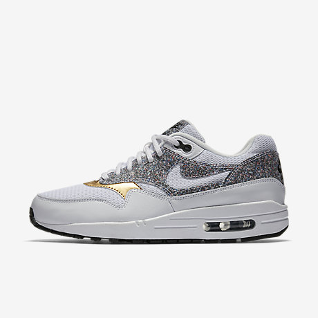 air max 1 essential white/black gamma orange Cheap Nike