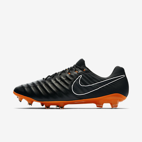 Nike Tiempo Legend VII Pro FG Black Black White Total Orange AH7241080