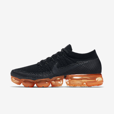 Nike Air VaporMax Flyknit Black Pop Mens Running Shoe