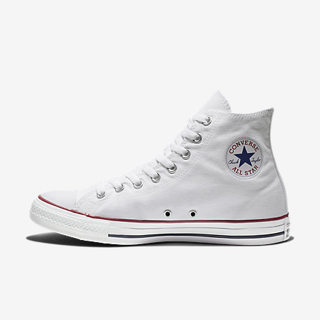 Converse All Star Bianche UK 4 High Top NY modello vintage Shoe Trainer Sneaker
