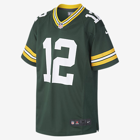 NFL Green Bay Packers Game Jersey (Aaron Rodgers) Older Kids ... 77c0d6950aaa