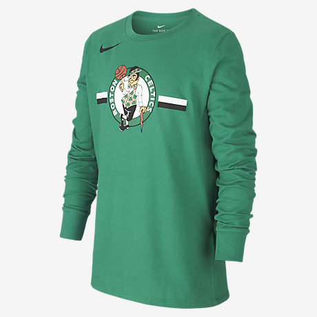 4ff7cc180f96 Boston Celtics Nike Dri-FIT Logo Older Kids  Long-Sleeve NBA T-Shirt ...