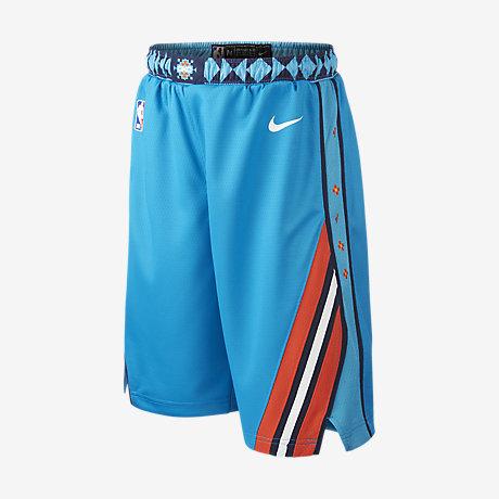 online retailer 96d97 72c06 Oklahoma City Thunder City Edition Swingman. Older Kids  Nike NBA Shorts