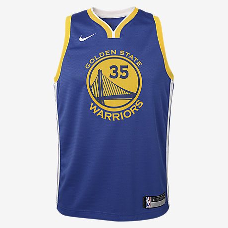 the latest 39964 0bd0f Kevin Durant Golden State Warriors Nike Icon Edition Swingman Older Kids'  NBA Jersey