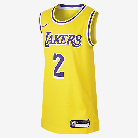614c05e14f5 Lonzo Ball Los Angeles Lakers Nike Icon Edition Swingman. Older Kids  NBA  Jersey