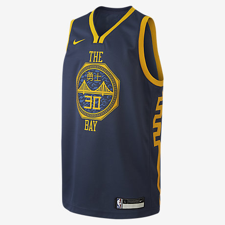 pretty nice 4b16f 0bcaf Stephen Curry City Edition Swingman (Golden State Warriors) Older Kids'  Nike NBA Jersey
