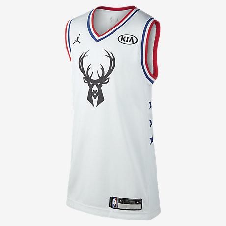 Giannis Antetokounmpo All-Star (Milwaukee Bucks). Older Kids  Jordan NBA  Jersey 33cdb9616