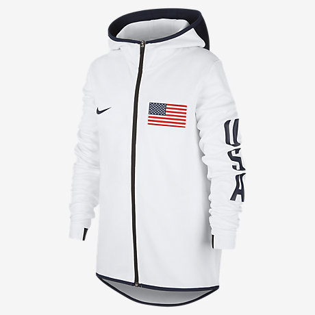 Sweat à capuche de basketball USA Nike Showtime pour Enfant
