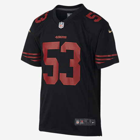 a5b180729 ... 49ers Color Rush Game (NaVorro Bowman) Kids Football Jersey Youth Nike  San Francisco 49ers 53 NaVorro Bowman Red 2017 Vapor Untouchable Limited  Stitched ...