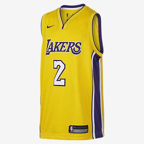 beaac26b610 ... Lonzo Ball Los Angeles Lakers Nike Icon Edition Swingman Big Kids NBA  Jersey ...