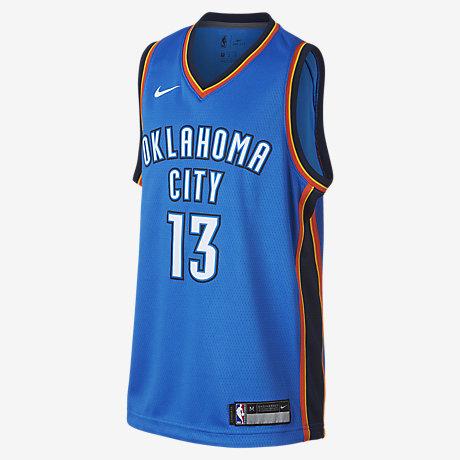 finest selection 51087 2452d kids oklahoma city thunder customized light blue jersey
