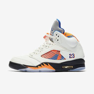 Купить Мужские кроссовки Air Jordan 5 Retro, Парус/Апельсиновая цедра/Черный/Hyper Royal, Артикул: 136027-148