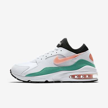 Купить Мужские кроссовки Nike Air Max 93, Белый/Kinetic Green/Черный/Crimson Bliss, Артикул: 306551-105