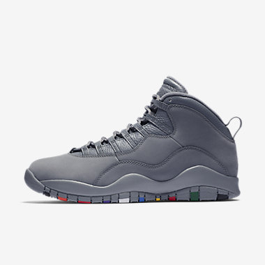 Купить Мужские кроссовки Air Jordan 10 Retro, Холодный серый/Белый/Холодный серый, Артикул: 310805-022