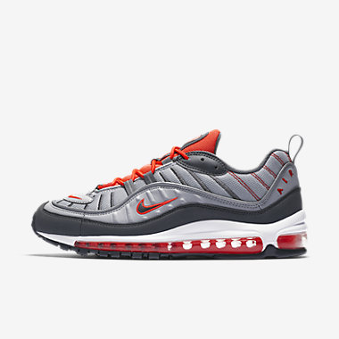 Купить Мужские кроссовки Nike Air Max 98, Темно-серый/Ярко-красный/Habanero Red/Темно-серый, Артикул: 640744-006