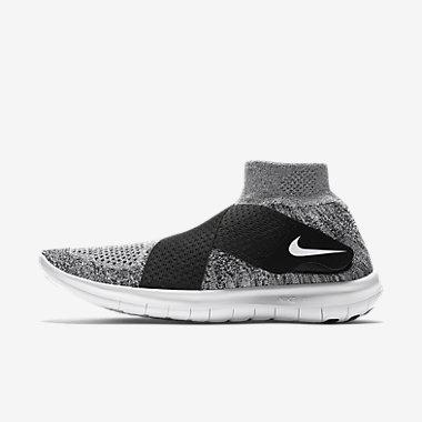 Купить Женские беговые кроссовки Nike Free RN Motion Flyknit 2017, Темно-серый/Черный/Чистая платина/Белый, Артикул: 880846-001