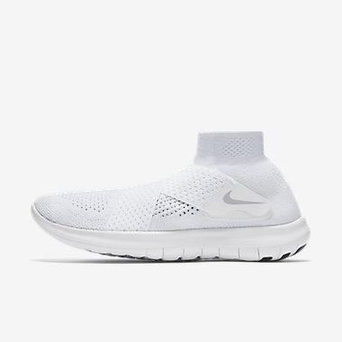 Купить Женские беговые кроссовки Nike Free RN Motion Flyknit 2017, Белый/Чистая платина/Салатовый/Темно-серый, Артикул: 880846-100