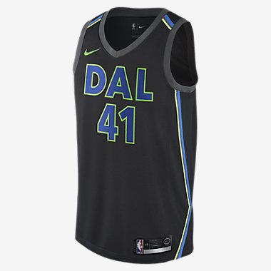 Купить Мужское джерси Nike НБА Dirk Nowitzki City Edition Swingman Jersey (Dallas Mavericks) с технологией NikeConnect
