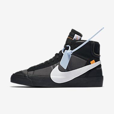 Купить Мужские кроссовки The 10: Nike Blazer Studio Mid x Off-White, Темно-серый/Чистая платина/Черный/Холодный серый, Артикул: AA3832-001