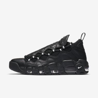 Купить Мужские кроссовки Nike Air More Money, Черный/Черный/Чистая платина/Серебристый металлик, Артикул: AJ2998-002