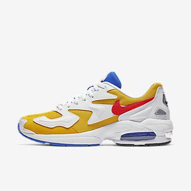 Купить Мужские кроссовки Nike Air Max2 Light, Золотистый/Синий/Черный/Flash Crimson, Артикул: AO1741-700