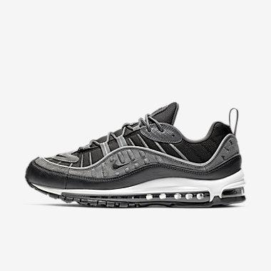 Купить Мужские кроссовки Nike Air Max 98 SE, Черный/Темно-серый/Белый/Антрацитовый, Артикул: AO9380-001