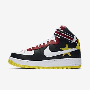 Купить Мужские кроссовки NikeLab Air Force 1 High x RT, Тренировочный красный/Черный/Белый/Opti Yellow, Артикул: AQ3366-600