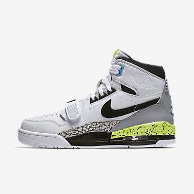 Купить Мужские кроссовки Air Jordan Legacy 312, Белый/Салатовый/Ярко-голубой/Черный, Артикул: AQ4160-107