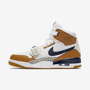Купить Мужские кроссовки Air Jordan Legacy 312, Белый/Оранжевый/Светлый костяной/Полночно-синий, Артикул: AQ4160-140