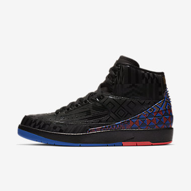 Купить Мужские кроссовки Air Jordan 2 Retro BHM, Черный/Золотистый металлик, Артикул: BQ7618-007
