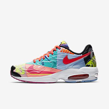 Купить Мужские кроссовки Nike Air Max2 Light QS, Черный/Яркий темно-красный, Артикул: BV7406-001