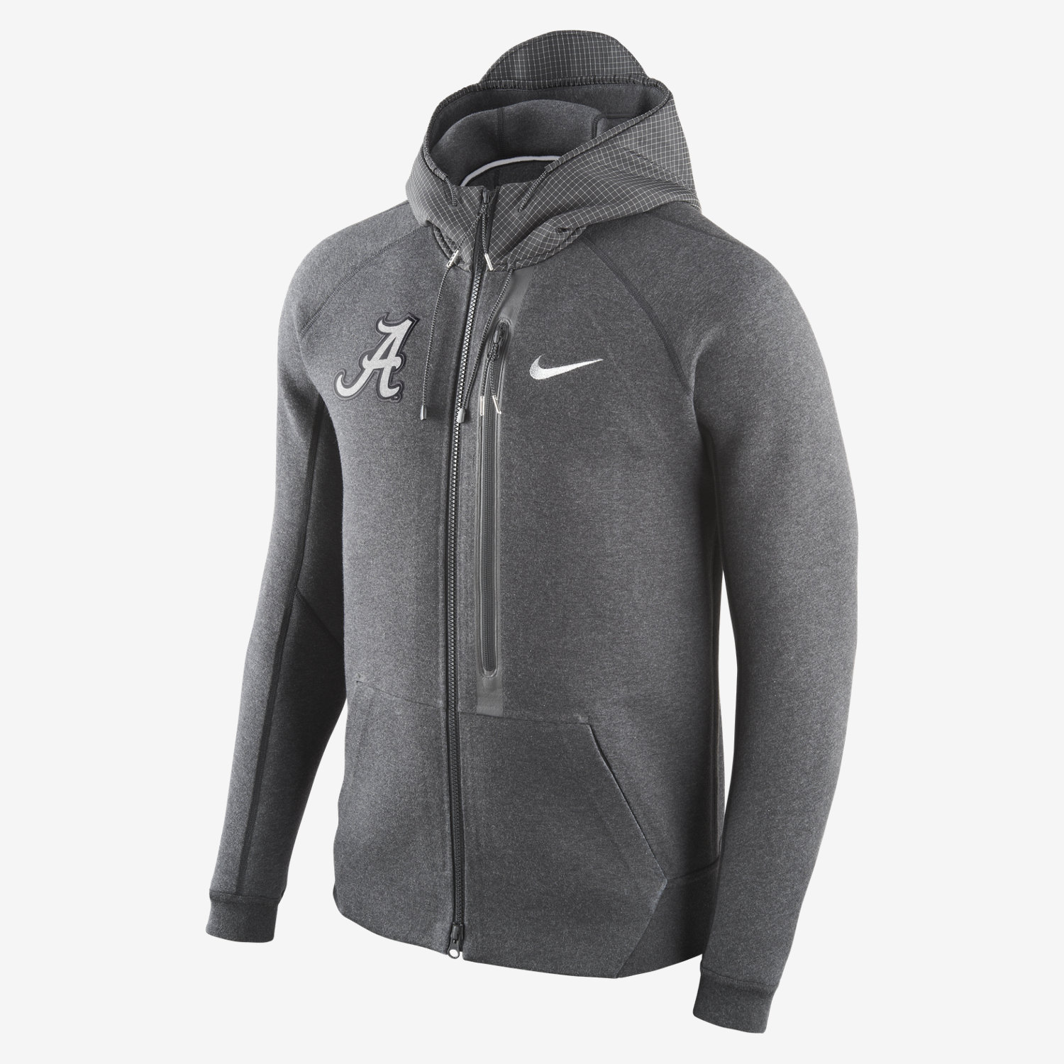 Nike Diamond Quest Tech Fleece Full-Zip (Alabama) Men's Hoodie ...