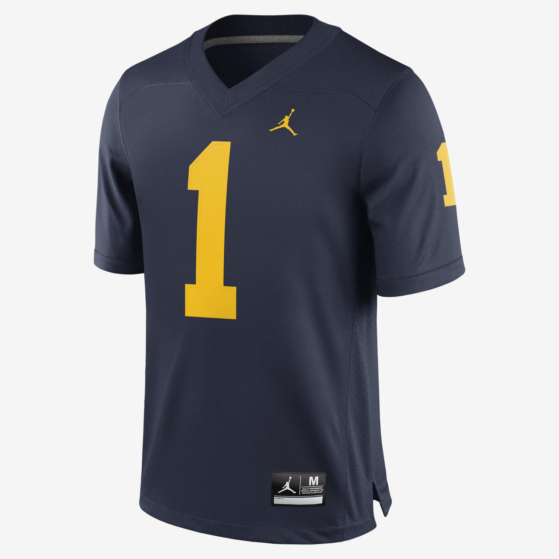 d68de9360 Jordan Football Game (Michigan) Men s Jersey. Nike.com