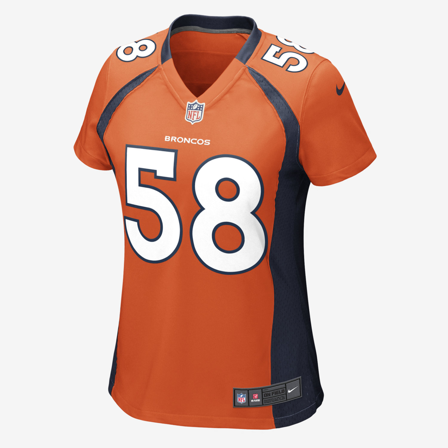 italy limited von miller womens jersey denver broncos 58 home orange