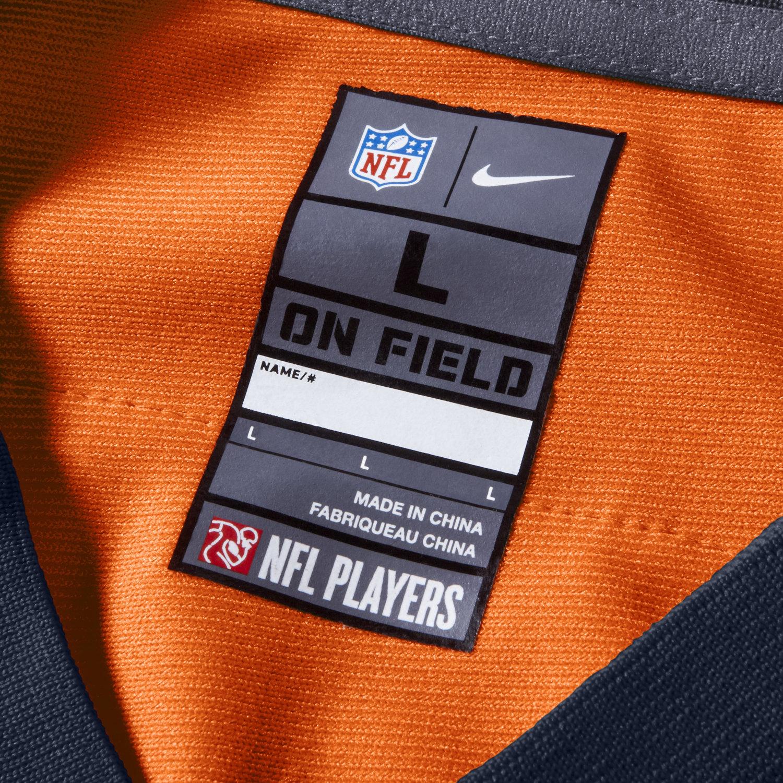6424811b womens nike denver broncos customized game orange team color jersey sale