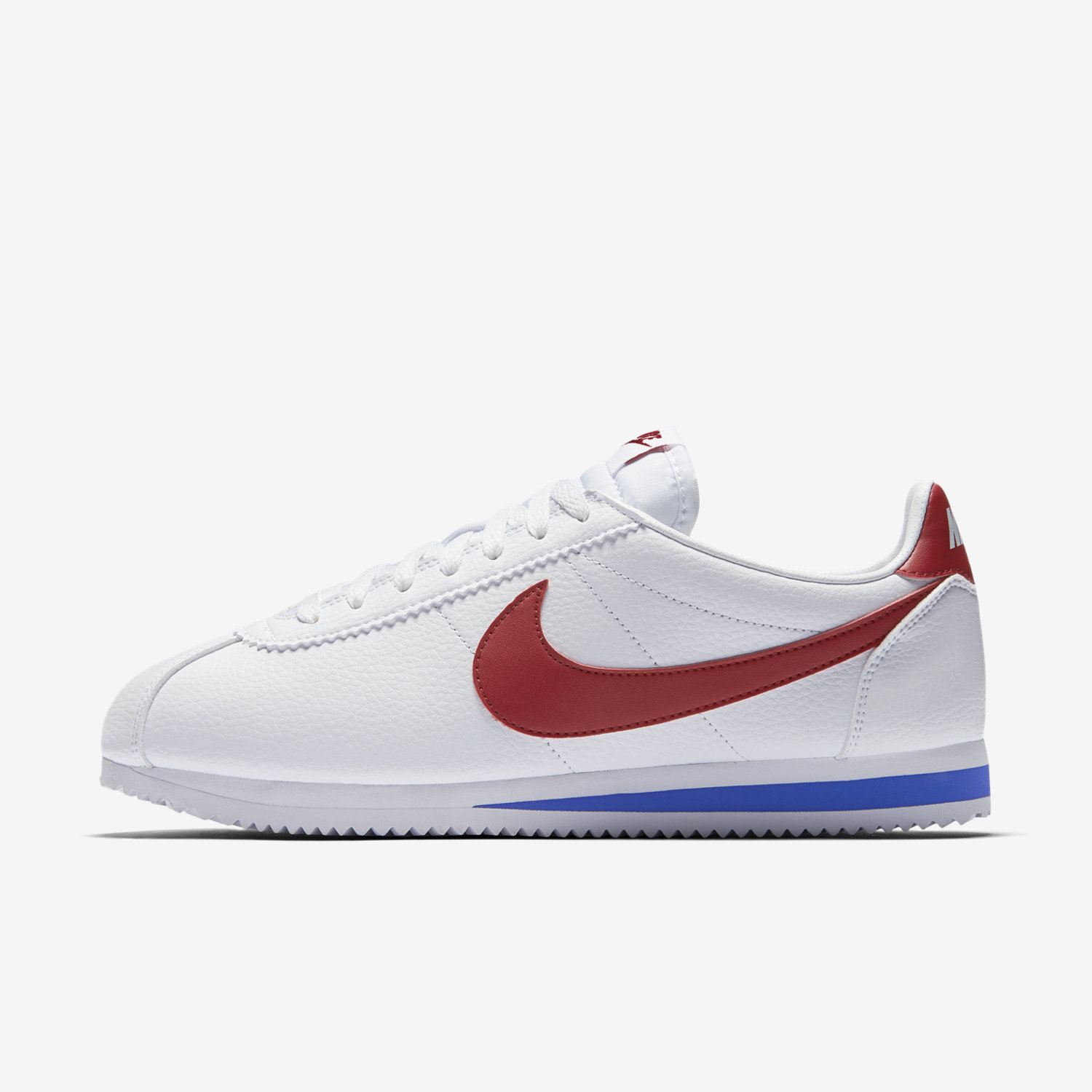 nike classic cortez white and navy leather trainers. Black Bedroom Furniture Sets. Home Design Ideas