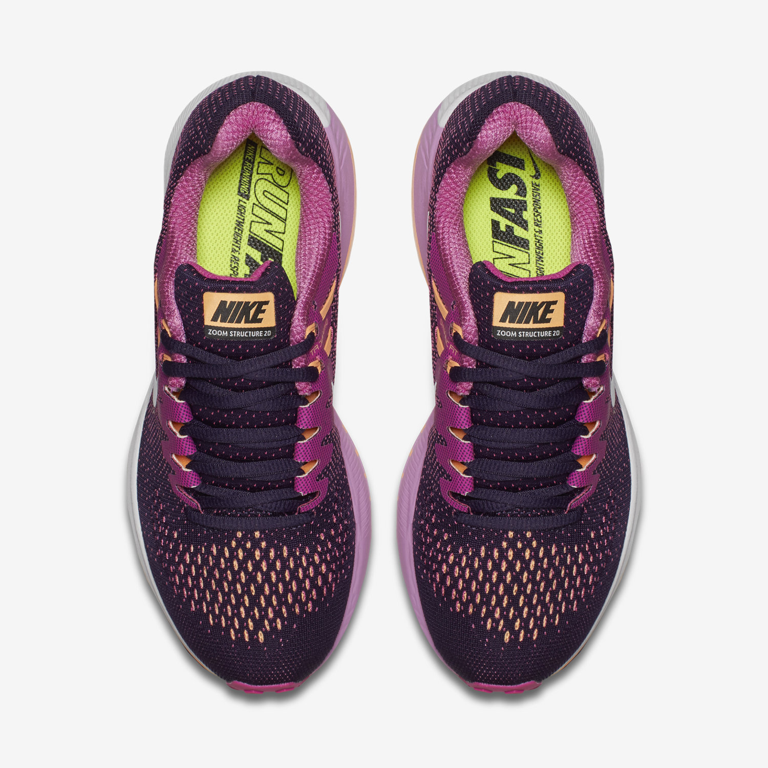 nike zoom structure 20 womens purple black