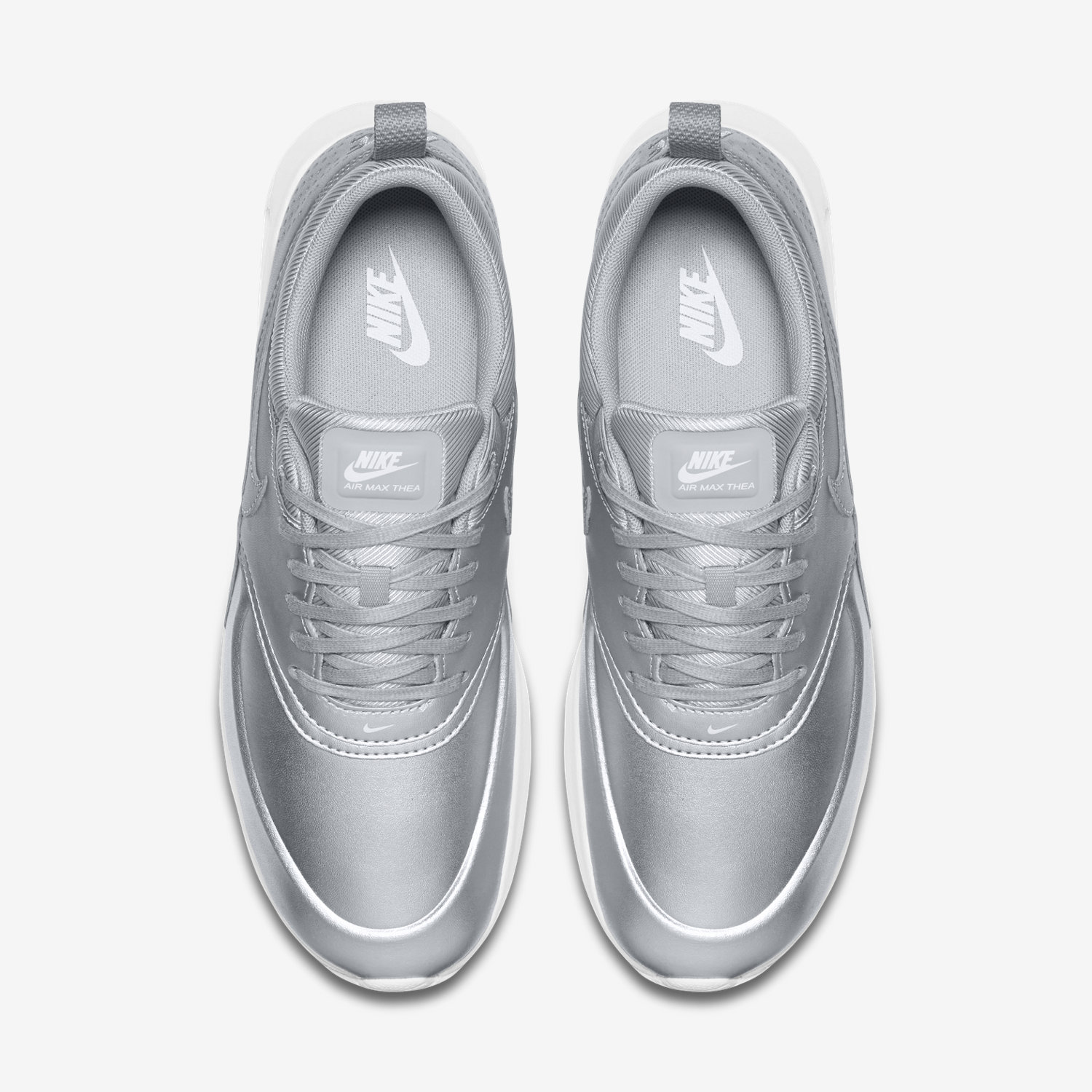 New NIKE WOMENS AIR MAX THEA SE METALLIC SILVER NWT
