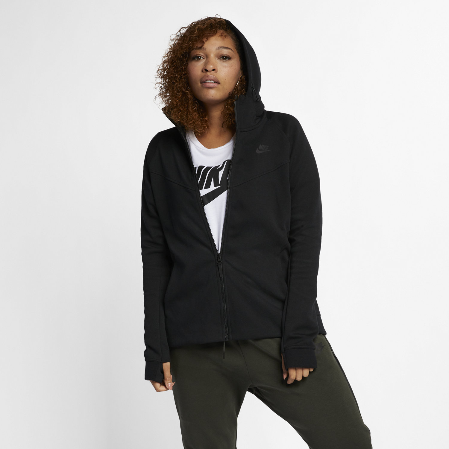 Nike Sportswear Tech Fleece (Plus Size) Women's Full-Zip Hoodie ...