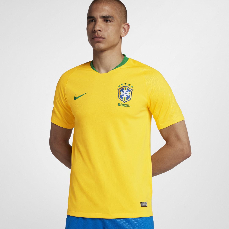 9ad9478a6696d Camisola de futebol 2018 Brasil CBF Stadium Home para homem. Nike.com PT