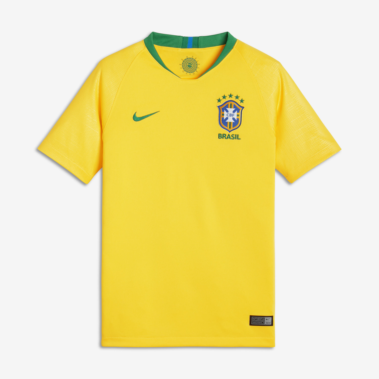2018 Brazil CBF Stadium Home Older Kids  Football Shirt. Nike.com IE 786b7d328ae45