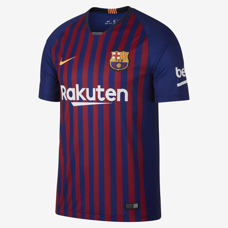 86d57ef46 2018 19 FC Barcelona Stadium Home Men s Football Shirt. Nike.com DK