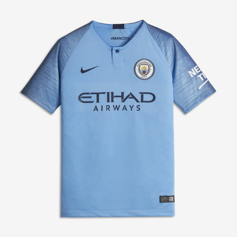 2018 19 Manchester City FC Stadium Home Camiseta de fútbol - Niño a.  Nike.com ES 026aeb8c57ee3