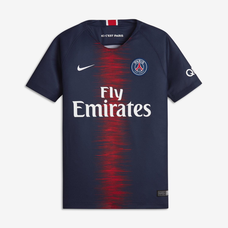 62cc2c5a205b54 Koszulka piłkarska dla dużych dzieci 2018/19 Paris Saint-Germain Stadium  Home. Nike.com PL